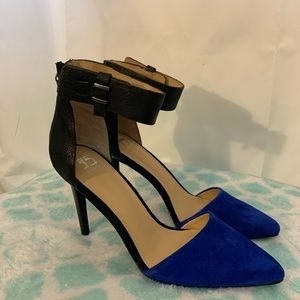 Joe's jeans Arnie back zip suede stiletto heel 8.5